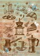 Рисовая бумага для декупажа  Кофейные аксессуары