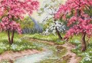 Набор для вышивания бисером и нитками Цветущий сад