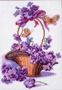 Рисунок на канве  Корзинка с цветами