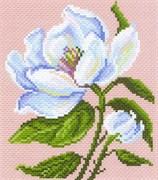 Рисунок на канве  Магнолия в цвету