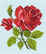 Рисунок на канве  Красная роза