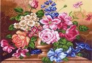 Рисунок на канве  Цветочный вальс