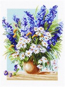 Рисунок на канве  Голубой фонтан