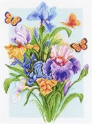 Рисунок на канве  Весенняя радуга