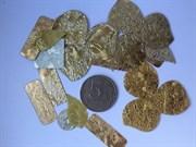 Пайетки декоративные. Ассорти золотое, 24 шт.