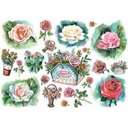 Рисовая бумага для декупажа  Цветы рисунок
