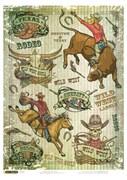 Рисовая бумага для декупажа  Дикий Запад