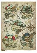 Рисовая бумага для декупажа  Морские истории