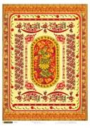 Рисовая бумага для декупажа  Хохлома-красная
