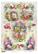 Рисовая бумага для декупажа  Любимые цветы