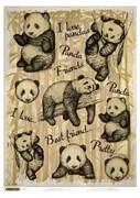 Рисовая бумага для декупажа  Мягкие панды