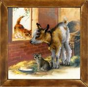 Набор для вышивания  Козленок и котята