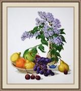 Набор для вышивания  Сирень и фрукты