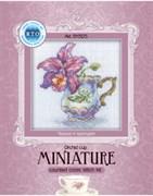 Набор для вышивания  Миниатюра - Чашка и орхидея