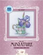 Набор для вышивания  Миниатюра - Чашка и ирис