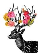 Набор для рисования по номерам  Олень в цветах
