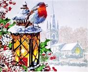 Набор для рисования по номерам  Снегирь на фонаре