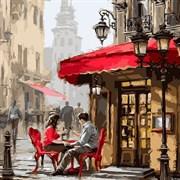 Набор для рисования по номерам  Уличное кафе  (худ. Р.Маклейн)