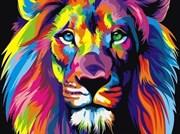 Набор для рисования по номерам  Радужный лев