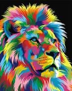 Набор для рисования по номерам  Радужный лев 2
