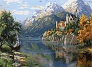 Набор для рисования по номерам  Замок в горах