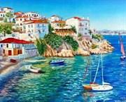 Набор для рисования по номерам  Белые домики Греции