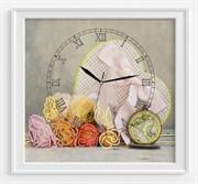 Набор для вышивания и шитья часы  Сердце времени