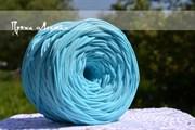 Пряжа  Лента  цвет нежно голубой