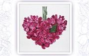 Набор для вышивания  Фиолетовое сердце. Май