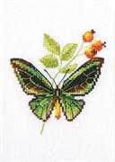 Набор для вышивания  Веточка шиповника и бабочка