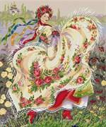 Набор для вышивания  Праздничный платок