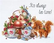 Набор для вышивания  Чай всегда вовремя