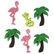 Набор пуговиц  Glitter Palm Trees & Flamingos