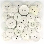 Набор пуговиц круглых  White