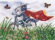 Набор для вышивания  Взлетая над полем ромашек