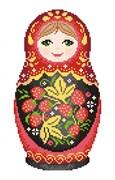 Набор для вышивания  Матрешка. Хохломская роспись