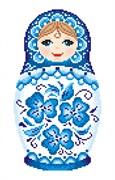 Набор для вышивания  Матрешка. Гжельская роспись