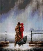 Набор для вышивки бисером  Поцелуй под дождем