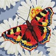 Картина стразами  Бабочка на ромашках