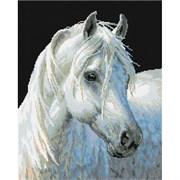 Картина стразами  Белый конь