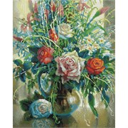 Картина стразами  Натюрморт с белой розой