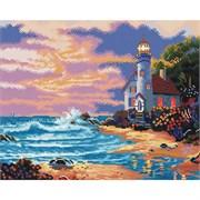 Картина стразами  Дом с маяком