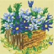 Картина стразами  Васильки в саду