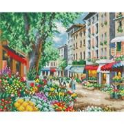 Картина стразами  Цветочная улица