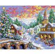 Картина стразами  Рождественская ночь