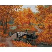 Картина стразами  Осенний парк