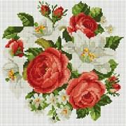 Картина стразами  Розы и лилии