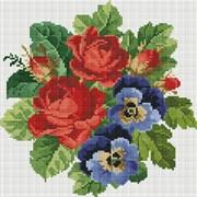 Картина стразами  Букет с красными розами