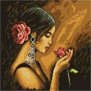 Картина стразами  Испанская красавица