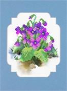 Набор для вышивания с бисером и паспарту  Весенние цветы